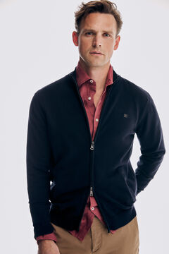 Pedro del Hierro Zip-up cardigan with pockets Blue