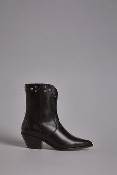 Pedro del Hierro Western Ankle Boot Black