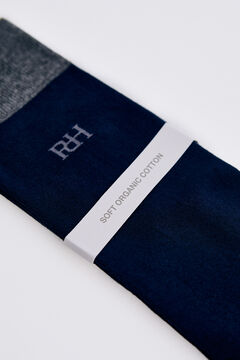 Pedro del Hierro Plain logo socks Blue