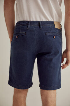 Pedro del Hierro SUMMER FLEX denim chino Bermuda shorts Blue