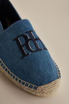 Pedro del Hierro Alpargata textil con logo Azul