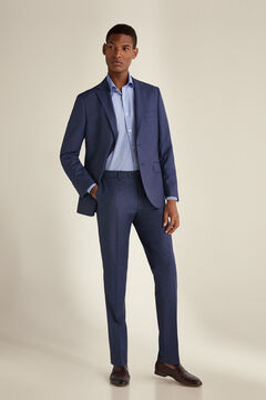 Pedro del Hierro Houndstooth tailored fit trousers Blue