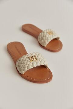 Pedro del Hierro Nappa leather sandal Beige