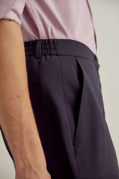Pedro del Hierro Slim fit bi-stretch trousers Blue