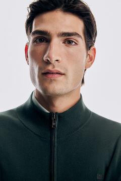 Pedro del Hierro Zip-up cardigan with pockets Green