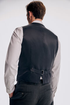 Pedro del Hierro Tailored fit grey vest Grey