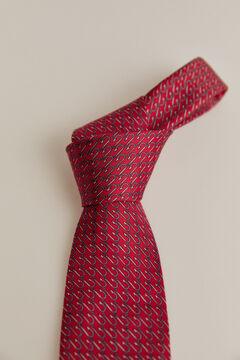 Pedro del Hierro Hook print tie Red