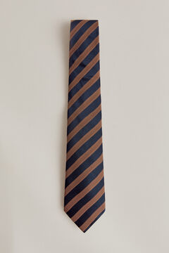 Pedro del Hierro Striped tie Brown