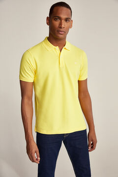 Pedro del Hierro Essential short-sleeved polo shirt Yellow