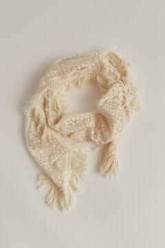 Pedro del Hierro Lace shawl Beige
