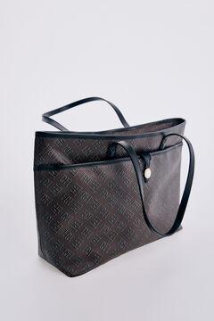 Pedro del Hierro Canvas logo shopper bag Black