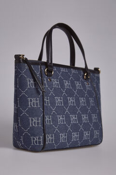 Pedro del Hierro Denim medium shopper bag Blue
