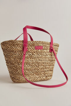 Pedro del Hierro Raffia basket bag Pink