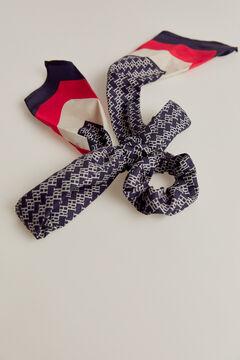 Pedro del Hierro Scarf style hair tie Blue