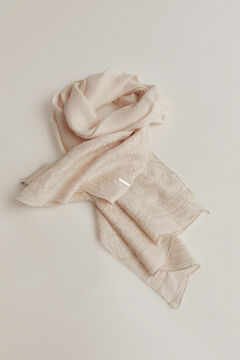 Pedro del Hierro Embroidered shawl Beige