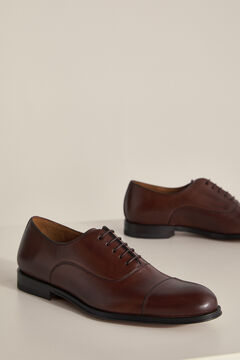 Pedro del Hierro Leather Oxford shoes with laces Brown