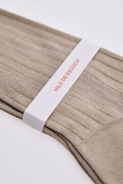 Pedro del Hierro Plain dress socks Beige