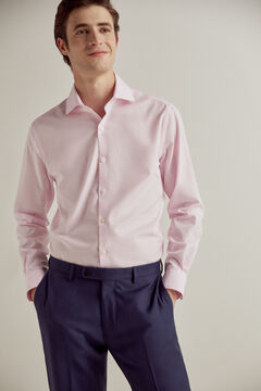 Pedro del Hierro Plain non-iron dress shirt Pink