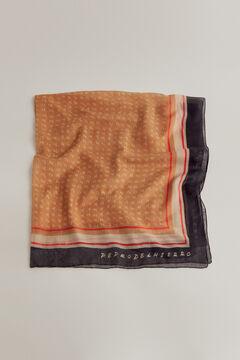 Pedro del Hierro Calligraphy print shawl Beige