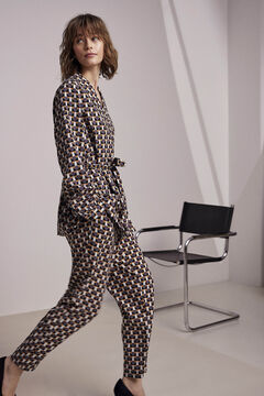 Blazer and trousers with geometric print set