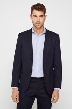 Suit navy blue slim fit
