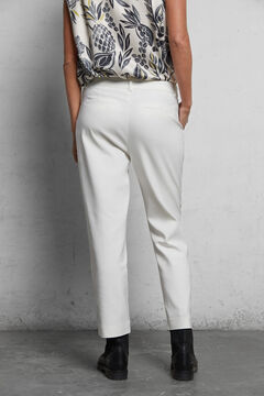 Printed top and trousers with buttons set