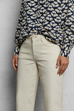 Printed shirt and cropped jeans set