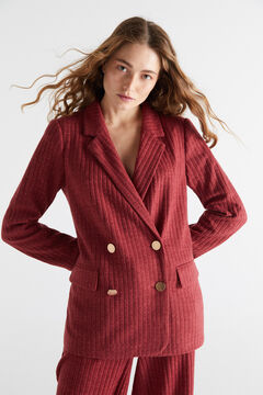 Knitted americana jacket and trousers set