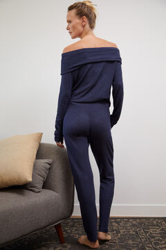 Knitted Homewear Set in Raised Fabric
