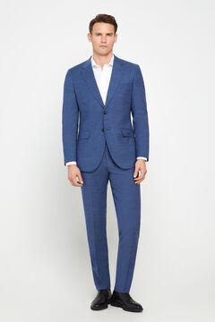 Fato azul slim fit