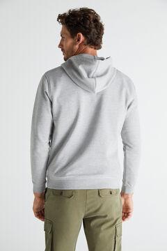 Hooded sweatshirt and chino trousers set