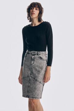 Set of eights jumper and denim skirt