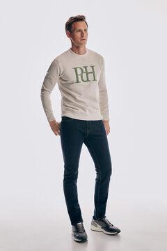 Logo sweatshirt and denim trousers set