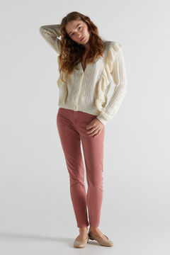 Womensecret Knitted jacket and sculp fit denim trousers set