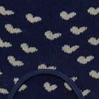 Cortefiel No-show socks with heart pattern Navy