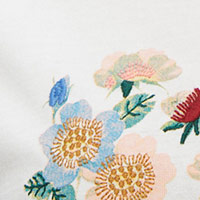 Cortefiel Floral printed t-shirt Natural
