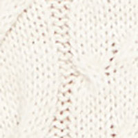 Cortefiel Cross-knit and borders jumper Ecru