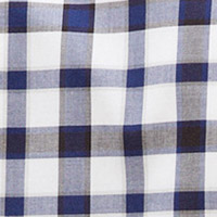 Cortefiel Extra soft checked organic cotton shirt Navy