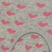 Cortefiel No-show socks with heart pattern Dark gray