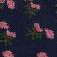 Cortefiel Long rose print socks Navy